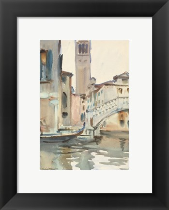Framed Bridge and Campanile, Venice, 1902/04 Print