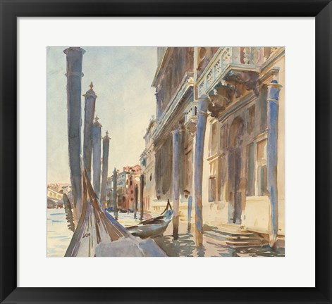 Framed Gondola Moorings on the Grand Canal, 1904/07 Print