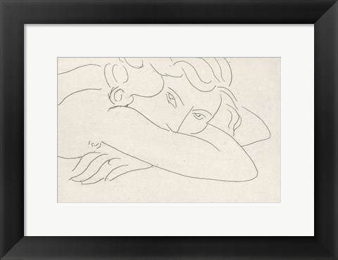 Framed Young Woman with Face Buried in Arms, 1929 Print