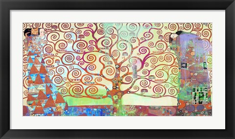Framed Klimt's Tree of Life 2.0 Print