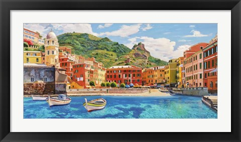 Framed Vernazza nel Sole Print