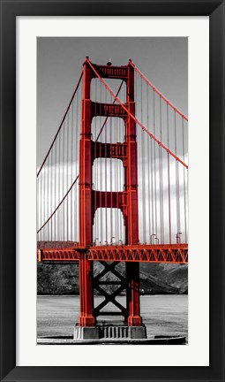 Framed Golden Gate Bridge II, San Francisco Print