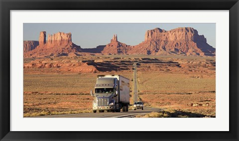 Framed Highway, Monument Valley, USA Print