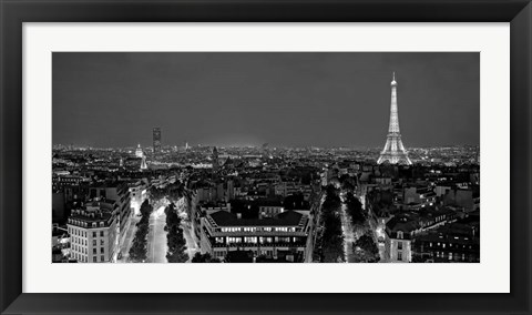 Framed Paris at Night Print
