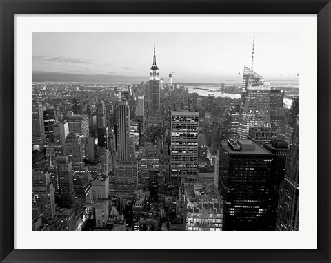 Framed Skyline of Midtown Manhattan, NYC Print