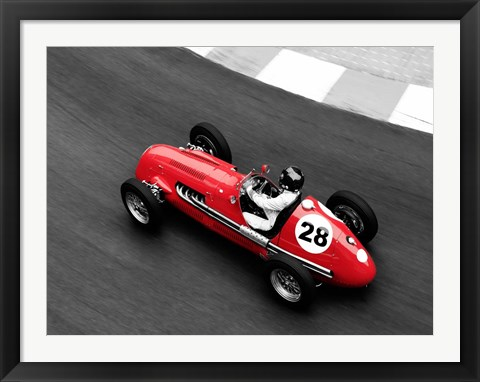 Framed Historical Race Car at Grand Prix de Monaco 4 Print