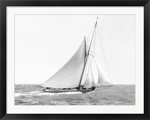 Framed Cutter Sailing on the Ocean, 1910 Print