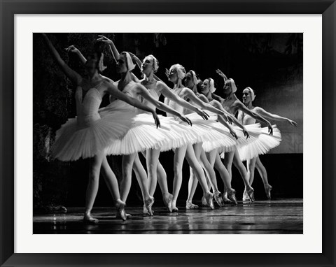 Framed Swan Lake Ballet Print