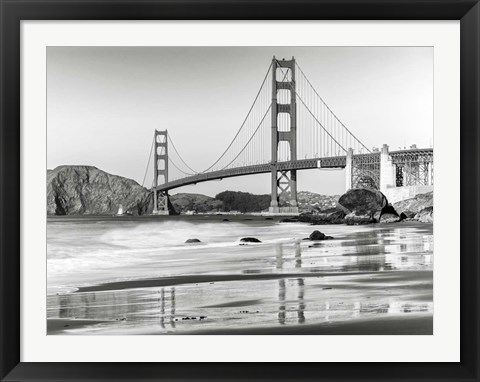 Framed Baker Beach and Golden Gate Bridge, San Francisco 2 Print