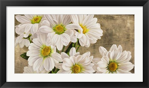 Framed Daisies in the Moonlight Print