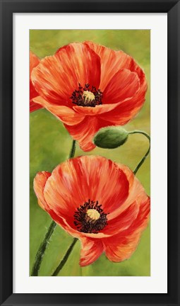 Framed Poppies in the Wind II Print
