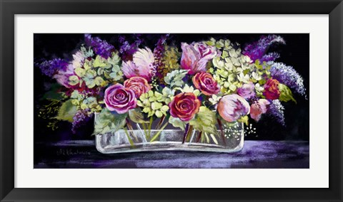 Framed Roses and Lilacs Print