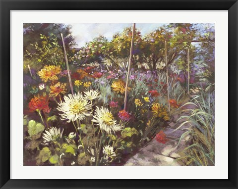 Framed Dusk in the Walled Garden Print