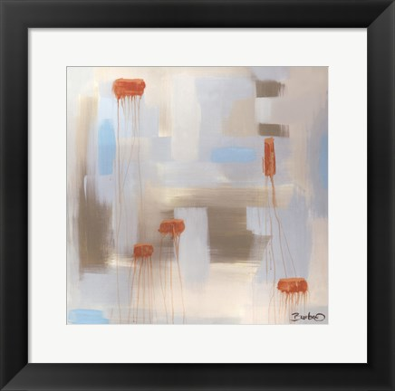 Framed Abstract Diptych I Print