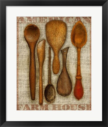 Framed Wooden Spoons High Print
