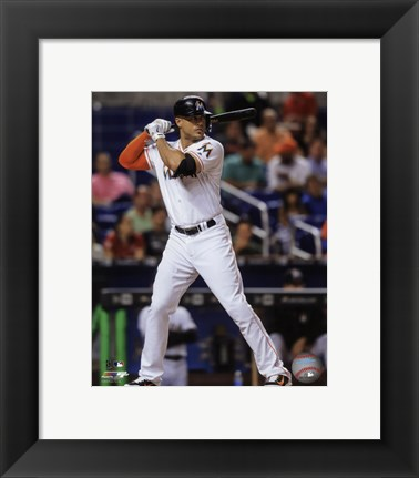 Framed Giancarlo Stanton 2016 Action Print