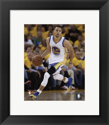 Framed Stephen Curry 2016 NBA Playoff Action Print