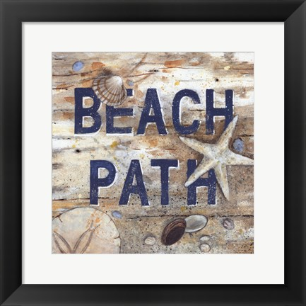 Framed Beach Path Print