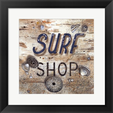 Framed Surf Shop Print