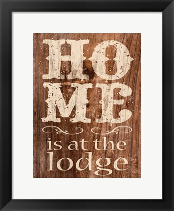 Framed At The Lodge Print