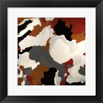 Framed Brown Camo Print