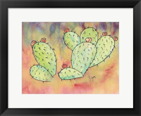 Framed Prickly Pear Cactus Print