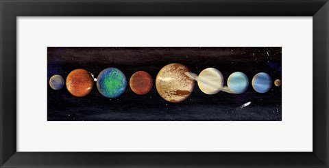 Framed Planets In The Galaxy Print