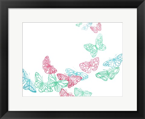 Framed Smoothie Butterflies Print