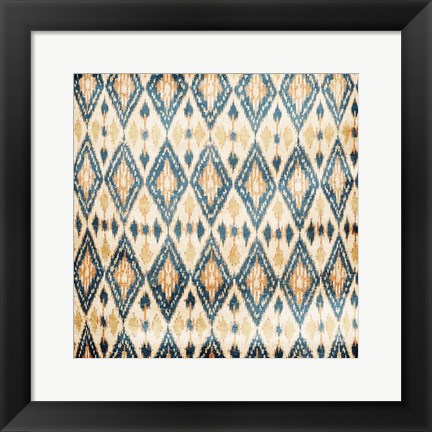 Framed Blue Diamonds Print