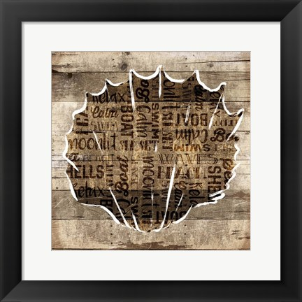 Framed Wooden Shell Words Mate Print