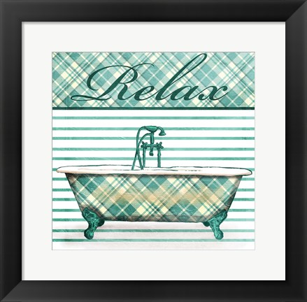 Framed Relaxed Plaid Bath Print