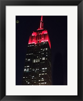 Framed Big Red New York Print