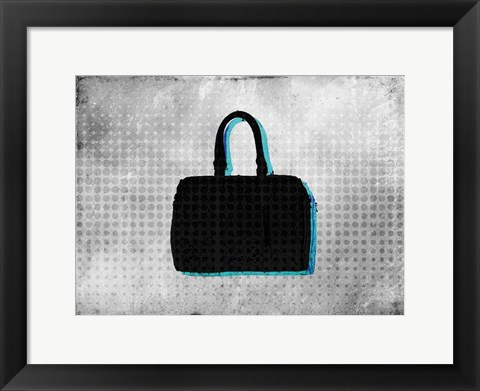 Framed Purse Sillouette Print