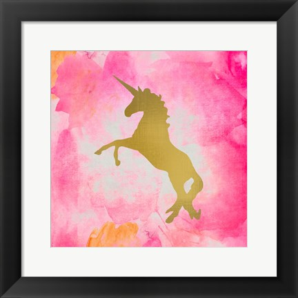 Framed Unicorn Square 2 Print