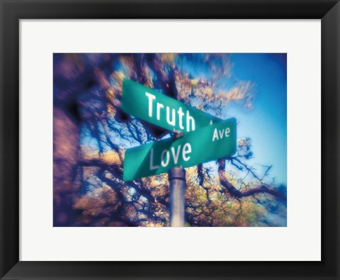 Framed Truth and Love Print