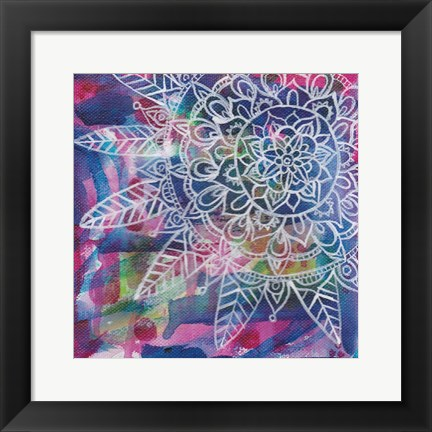 Framed Tubular Flower 3 Print