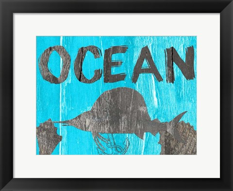 Framed Ocean Blue Print