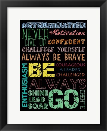 Framed Go Create Print