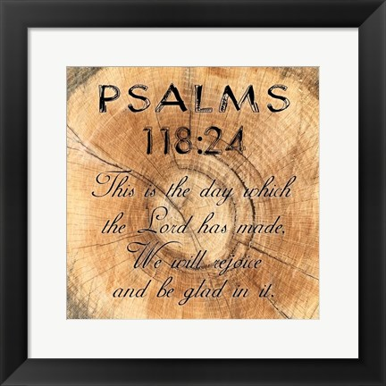 Framed Psalms 118-24 Print