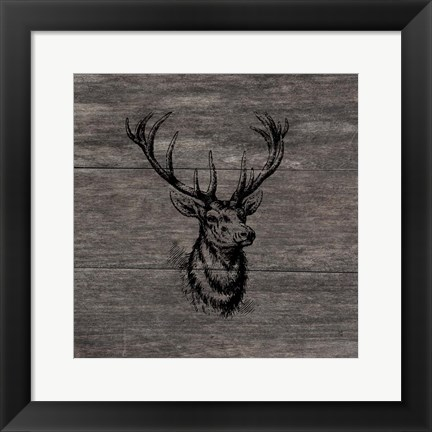 Framed Another Buck Print