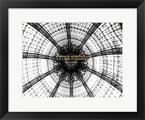 Framed Fashion Architecture Print