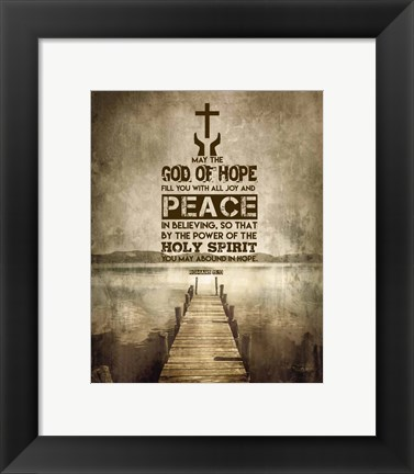 Framed Romans 15:13 Abound in Hope (Sepia) Print