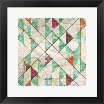 Framed Geometric Color Shape VIII Print