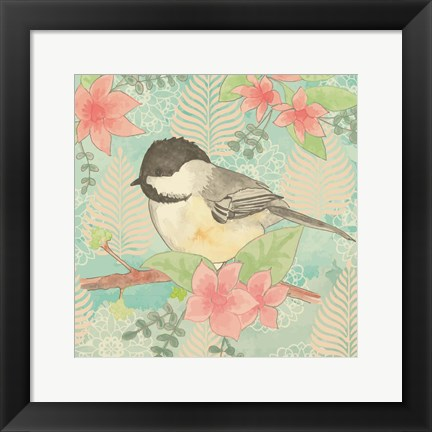 Framed Chickadee Day II Print
