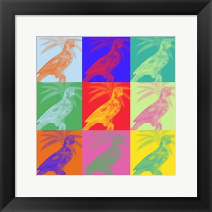 Framed Parrot Party II Print