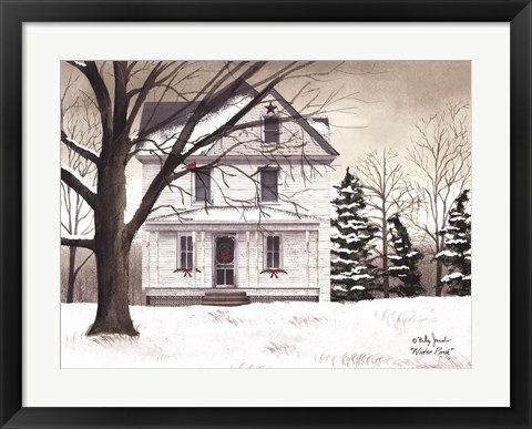 Framed Winter Porch Print