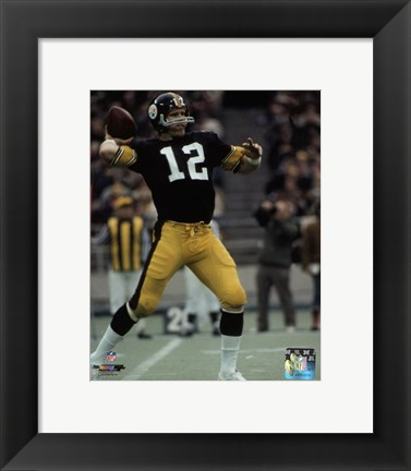 Framed Terry Bradshaw 1972 Action Print
