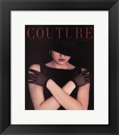 Framed Couture February 1963 Print