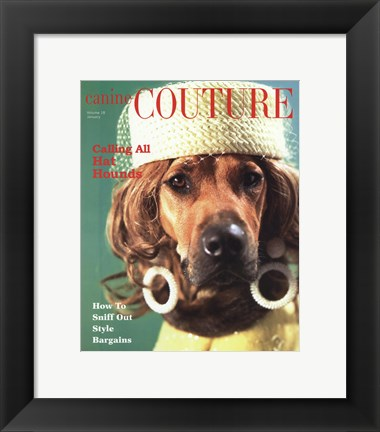Framed Calling All Hat Hounds Print