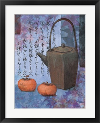 Framed Blue Teapot Print